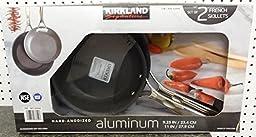 Kirkland Signature Hard-Anodized Aluminum French Skillets / Frying Pans 2 Pack