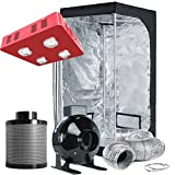TopoLite Grow Tent Room Complete Kit Hydroponic Growing System LED 800W Grow Light + 4