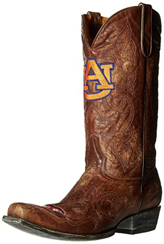 NCAA Auburn Tigers Men's Board Room Style Boots, Brass, 8 D (M) US ()