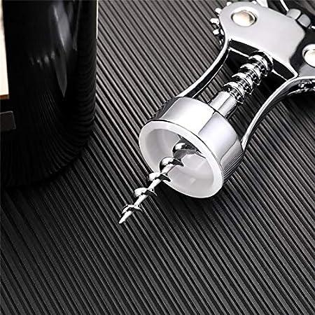HAYI Sacacorchos Aleación De Zinc Abrelaje De Botella De Vino Presión Portátil Presión Sacacorchos Tinto Abrelatas para La Barra De Cocina Herramienta Abrebotellas (Color : Silver)