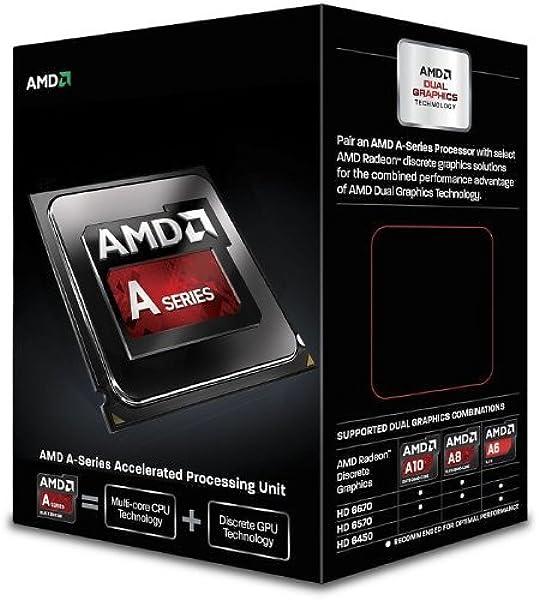 Amazon Com Amd A6 6400k Richland 3 9ghz Socket Fm2 65w Dual Core Desktop Processor Amd Radeon Hd Ad640kokhlbox Computers Accessories