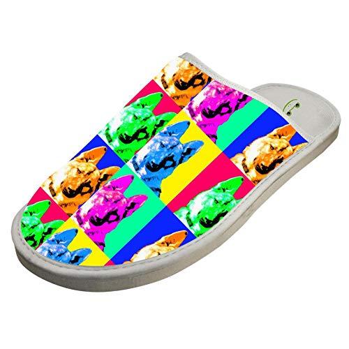 German Shoes Indoor White Slippers For Warm Shepherd BVVST Bedroom House Women Men w5Xx0qWEP