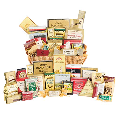 Grand Luxury Gift Basket, Gourmet Candy Assortment, Snacks & Meat Variety Pack ()