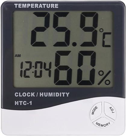 Nuevo sin estrenar termómetro y medidor de humedad,Está en pie en la mesa o cuelga en la pared,LCD p