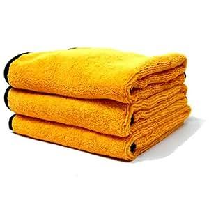 Chemical Guys MIC_507_03 Professional Grade Premium Microfiber Towel, Gold (16 in. x 24 in.) (Pack of 3)
