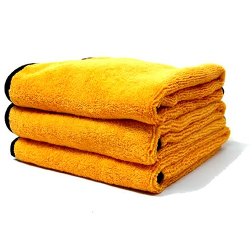 Chemical Guys MIC_507_03 Professional Grade Premium Microfiber Towel, Gold (16 in. x 24 in.) (Pack of 3)