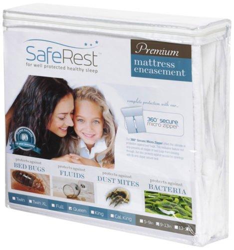 Certified Bedbug Proof Mattress Encasement 12''-15'' Queen -10 Year Mfg Warranty !
