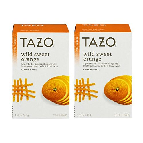 Tazo Wild Sweet Orange Herbal Tea, 20 ct (2pack)