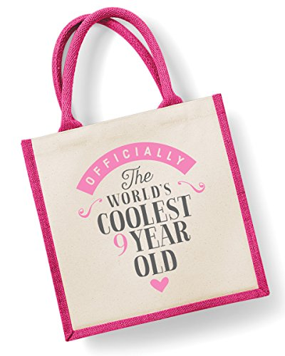 Medium x Old 30cm Pink 9th Pink Year 30cm Girl Birthday Birthday Nine Present 19cm Bag Ninth Gift Bag x nqPqpxw8z6