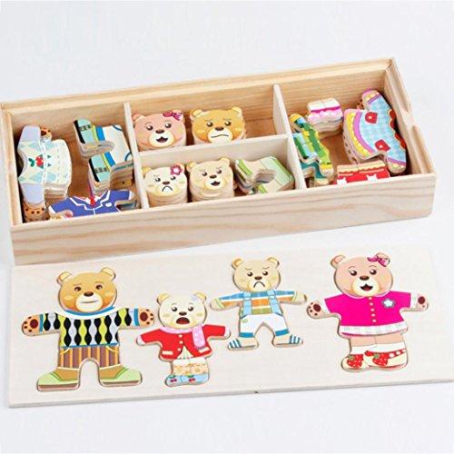 bear family dress up puzzle - 5