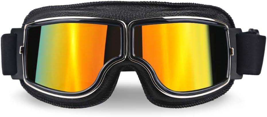 XYQY brille Universal Pilot Aviator Retro Vintage Motorradbrille Motorrad Roller Gl/äser Uv Schutz F/ür Fahrrad Motor Sonnenbrille///Modell 4