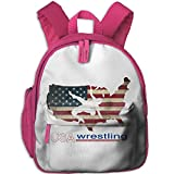 Ugift Cool Print USA Wrestling 2-6ï½›children,Child,kids,ToddlerCute Shoulders Bag Opening Gift Prize Schoolbag
