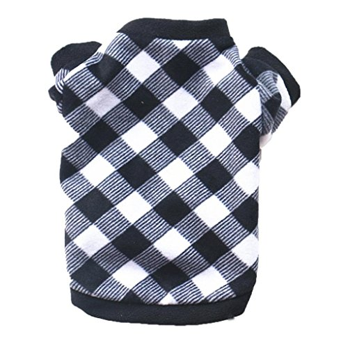 Woaills Hot Sale!!Puppy Doggy Apparel Clothing,Pet Dog Cat Polar Fleece villus Warm Clothes (M, Black)