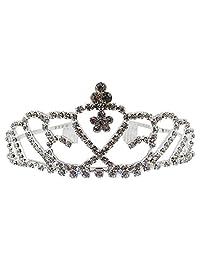 SODIAL Diadem Jewelry Wedding Crown Rhinestone Crystal Princess Tiara Headband Party