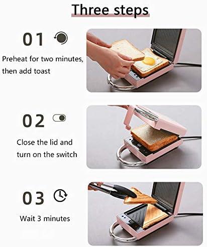 JWC Machine à Petit-déjeuner gaufrier, Chauffage Double Face Amovible Interrupteur Multifonction à Un Bouton contrôle de température Intelligent antiadhésif, pour la Maison