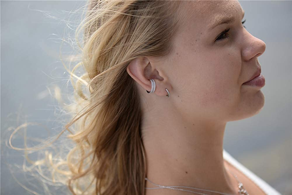 Sterling Silver Ear Cuffs No Piercings Non Pierced Cuff Set of 2