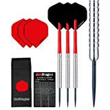Red Dragon Hell Fire A Tungsten Steel Darts with Flights, Shafts, Wallet & Red Dragon Checkout Card