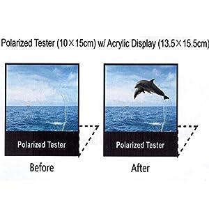 "Polarized Tester Test Your Sunglasses Polarized Lens 5.5""X6.5"" (BLACK, DOLPHIN)"