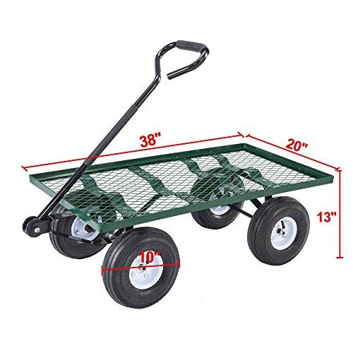 mesh-desk-utility-garden-wagon-nursery-cart-wheelbarrow-steel-trailer-lawn-yard
