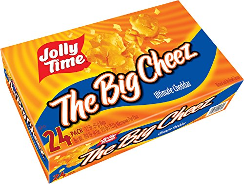 Jolly Time The Big Cheez Gourmet Cheddar Cheese Microwave Popcorn, Bulk 24-Count Box (The Big Cheese compare prices)