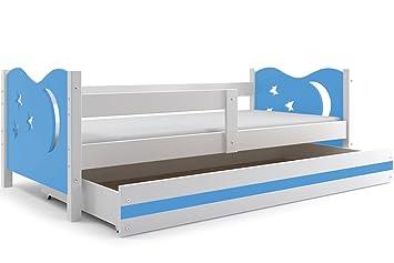 Interbeds Cama Individual Noel, 160x80, somier, cajón y cholchón de Espuma Gratis! (Azul): Amazon.es: Hogar