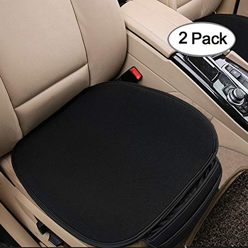 Big Ant Car Seat Cushion, Breathable Car Interior Seat Cover Cushion Pad Mat for Auto Supplies Office Chair with PU Leather (Black-2PCS)