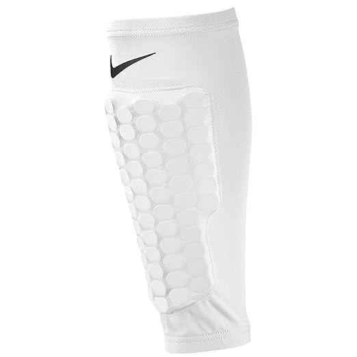 546e37ea00 Amazon.com: Nike Pro Combat Hyperstrong Compression Shin Sleeve, White,  Small: Health & Personal Care