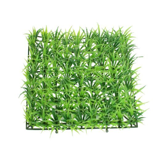 Jardin Artificial Decorative Lawn Plastic Grass for Aquarium, 9.1 by 9.1 by 1.4-Inch, Green