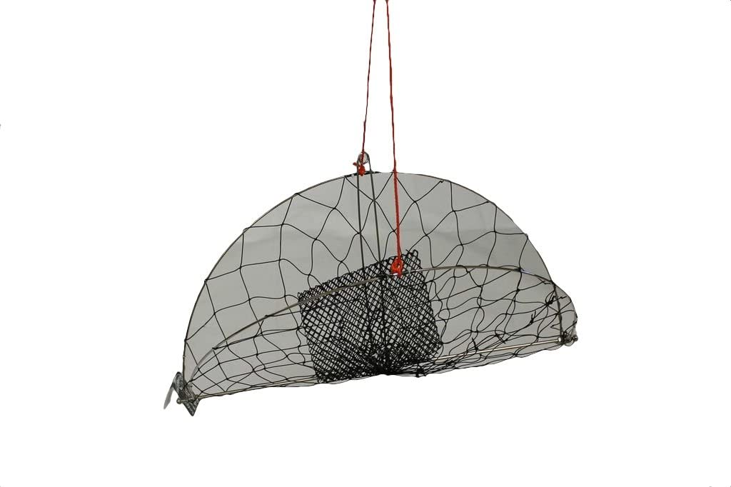 KUFA Sports Stainless Steel Frame Casting Crab Trap with 100' Rope (CR56)
