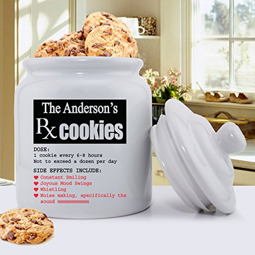 Personalized Ceramic Cookie Jar - Personalized Cookie Jar - Custom Cookie Jar - RX Smiles - Personalized Cookie Jar