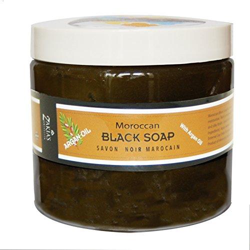 Moroccan Argan Oil Black Soap -16 oz value size ...