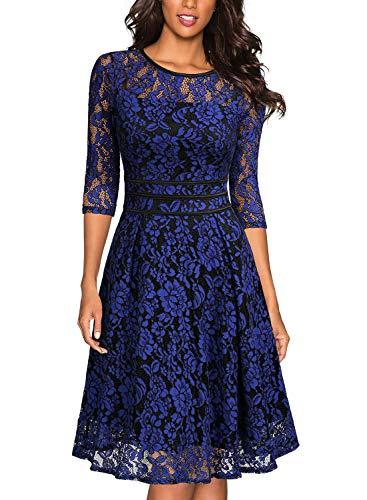 18aca999f368 Miusol Women's Vintage Floral Lace Cocktail Evening Party Dress (X-Small,  ...