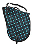 AJ Tack Wholesale English Horse Saddle Carrier Travel Bag Case All Purpose Quilted Black Turquoise