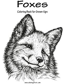 foxes coloring book for grown ups 1 volume 1 - Fox Coloring Book