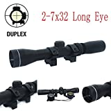 Huntiger Mosin Nagant 2-7x32 Long Eye Relief Scope Fits Mosin Nagant 1891/30 M39