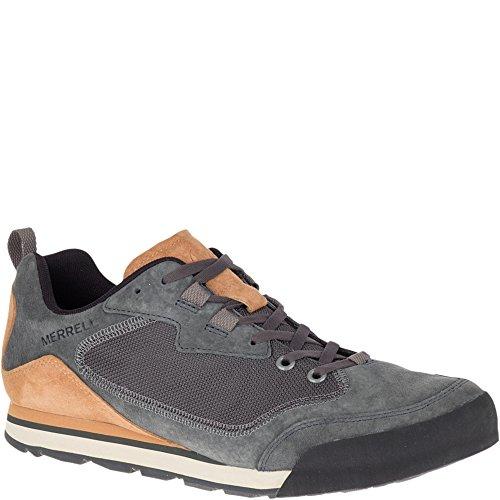 Merrell Men's Burnt Rock Travel Suede Hiking Shoe, Granite, 10.5 M US
