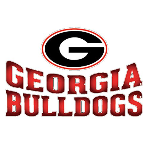 Georgia Bulldogs Arched Lettering Decal Red ()