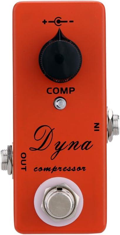 Andoer Dyna Compresor Guitarra Eléctrica Pedales Mini Solo Efecto con True Bypass