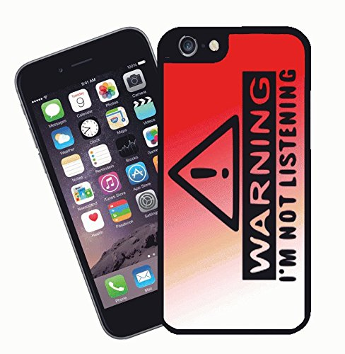 Warning, im not listening, funny novelty - This cover will fit Apple model iPhone 7 (not 7 plus) - By Eclipse Gift Ideas