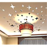 3D Mirror Stars Sticker Wall Ceiling Room home Decor Art DIY Decor Removable Wall Quote Sticker