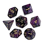 Gbell 7 Pcs/84 Pcs Dice Game Set for Dungeons and Dragons Role Playing Game D&D RPG Shadowrun and Math Teaching,Polyhedral D4-D20 Multi Sided Acrylic Game Dice for Kids Adults