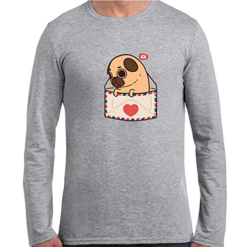 Henggh Youve Got Mail Graphic Men T Shirt Long Sleeve Grey S