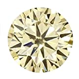 RINGJEWEL 2.22 ct 8.80 MM VS2 Round Cut Loose Real Moissanite Use 4 Pendant/Ring Fancy Light Yelllow Color Stone