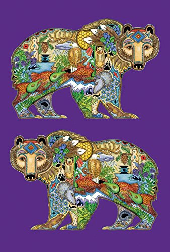 Toland Home Garden Animal Spirits Grizzly Bear 28 x 40 Inch Decorative Native Spiritual Outdoors Forest House Flag (Flag Bears House)