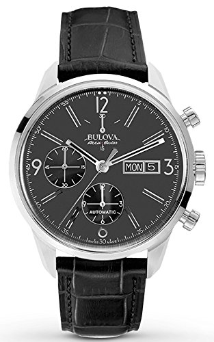 Bulova Accu Swiss Men's 63C115 Mechanical Hand Wind Black Strap Watch