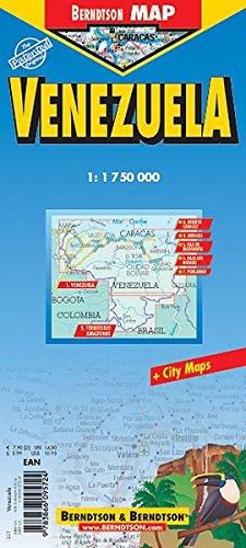 Venezuela Laminated Map (B&B)...
