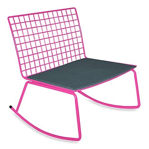 Idea Nuova Modern Rocking Chair in Pink