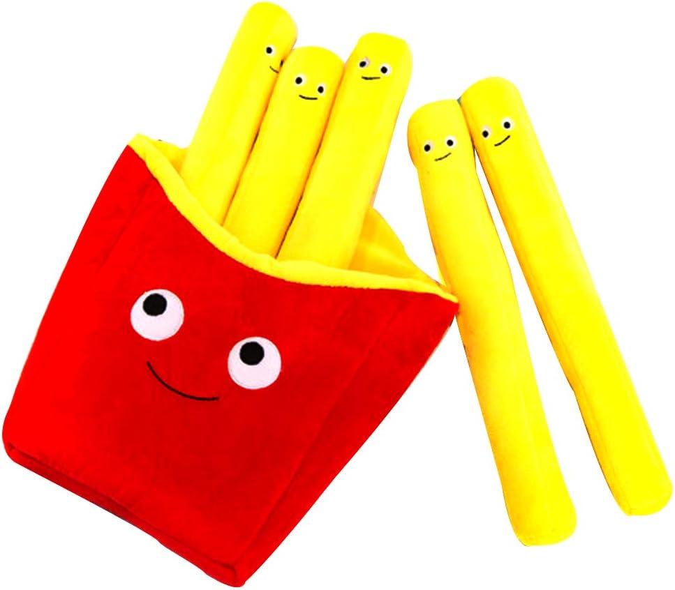 NOQ Plush Toys Creative Simulation Fries Plush Pillow Festival Decor Sofa Cushion Birthday Gift-30cm