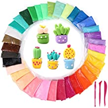 36 Colors DIY Modeling Clay Kit,Trofoty Ultra Light Polymer Clay Air Dry Clay Creativity DIY Crafts No-Toxic Clay Accessories and Tutorials for Kids Gift