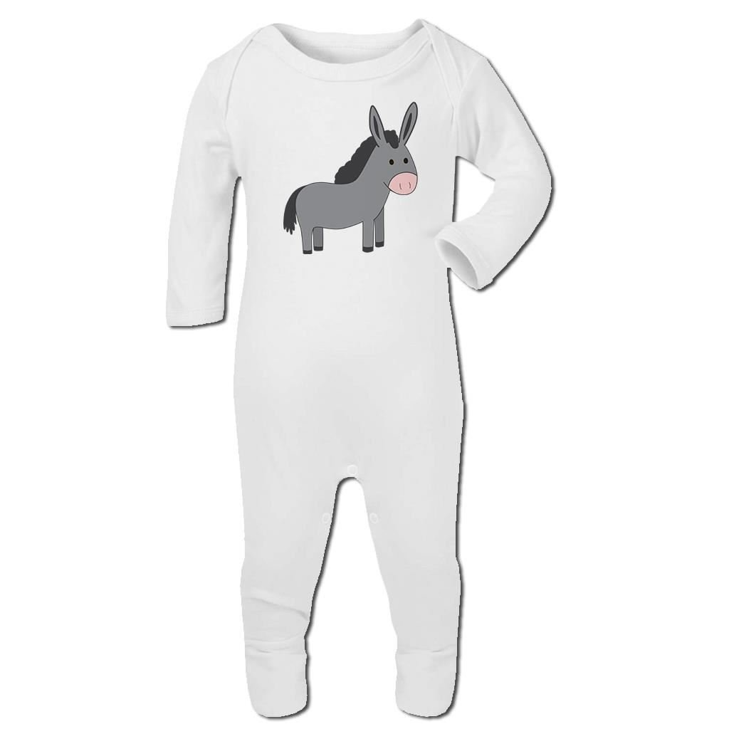 Bang Tidy Clothing Baby Romper Suit Boy Girl One Piece Little Donkey Emoticon